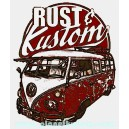 Sticker planet kustom rust & kustom used vw split rats 16