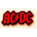 Patch ecusson AC DC hard rock red on black little