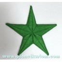 Patch ecusson thermocollant green star etoile polaire verte