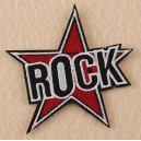 Patch ecusson thermocollant rock star etoile