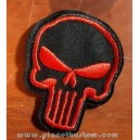 Patch ecusson punisher tête de mort skull marvel geek rouge