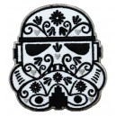 Patch ecusson casque stormtrooper star wars dia de la muerte