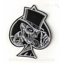 Patch ecusson skull Spide pique chapeau gentleman oldschool