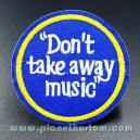 Patch ecusson a coudre dont take away music