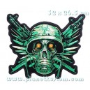 Patch ecusson skull lethal angel ange mortel roses tetes de mort
