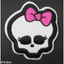 Patch ecusson skull monster high girly pin up tete de mort crane kiki
