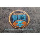 Patch ecusson von Dutch skull blue originals orange old stock