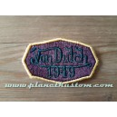 Patch ecusson von Dutch 1949 octogone signature aubergine old stock