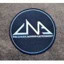 Patch ecusson thermocollant the chuck norris experiment rond noir