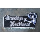 Patch ecusson thermocollant durstige nachbarn beer biere