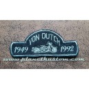 Patch ecusson von Dutch moto bike biker 1949 1992 black old stock