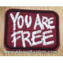 Patch ecusson thermocollant You are free red