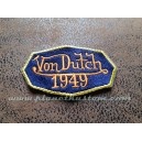 Patch ecusson von Dutch 1949 octogone signature orange fond bleu old stock