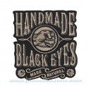 Patch ecusson thermocollant hand made black eyes natural fait main