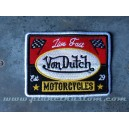 Patch ecusson von Dutch motorcycles live fast racing star old stock