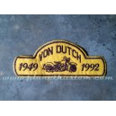 Patch ecusson von Dutch moto bike biker 1949 1992 jaune old stock
