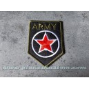 Patch ecusson thermocollant army red star etoile rouge armée USA kaki