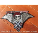 patch ecusson grande taille skull army comando couteaux ailes