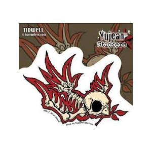 Sticker Humantree skeleton swallow hirondelle squelette tidwell13