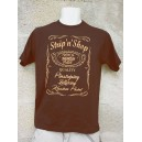 Tee Shirt Homme Strip'n'Shop marron