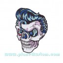 Patch ecusson thermocollant rocker skull eight ball eye 8