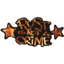 Sticker rust is not a crime flame star on black rust is not a crime 1