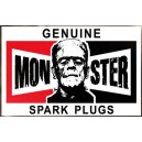 Sticker frankenstein monster genuine spark plugs used monster 1