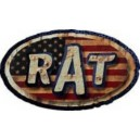 Sticker rat parodie STP USA flag used usé moyen rats 34