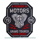 Patch ecusson biker power motors vtwin grand tourer loud proud