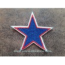 Patch ecusson jeans star etoile polaire jean bordé rouge et blanc