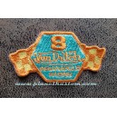 Patch ecusson von Dutch 8 indianapolis racing damier blue gold old stock