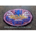 Patch ecusson von Dutch King of the race lion damier pink old stock