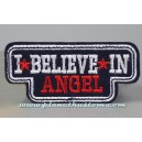 Patch ecusson thermocollant i believe in angel noir