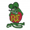 Patch ecusson rat fink rf themocollant kustom rats grand modele dos