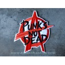 Patch ecusson thermocollant Anarchy logo rouge punks not dead punk