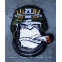 Patch ecusson tete gorille cigare boss army casque helmet singe
