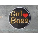 Patch ecusson thermocollant girl boos love heart coeur