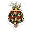 Sticker pin up lady luck d.Vicente