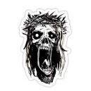 Sticker sweet zombie jesus skull 2